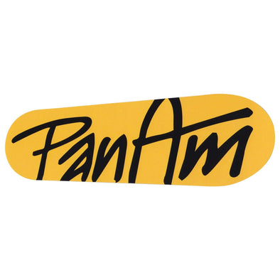 Logo Sticker - Yellow / Black - Large