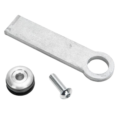 Rubber Mount Long Finger Tab - 1/4 inch thick - Aluminum Washer