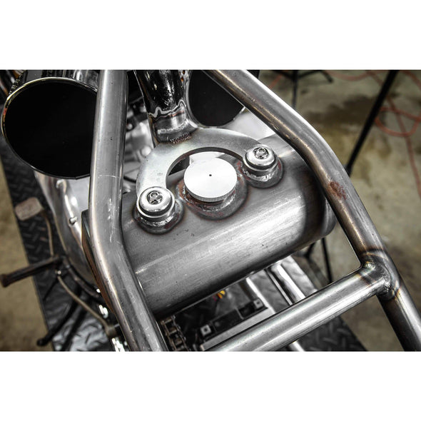 Rubber Mount Bracket Kit for Lowbrow Oil Tanks - for 500 / 650 c.c. unit Triumph Motorcycles - Aluminum Washers