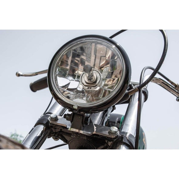 Bottom Mount Headlight Bracket - Triumph OIF 1973 & later - Tumbled Stainless