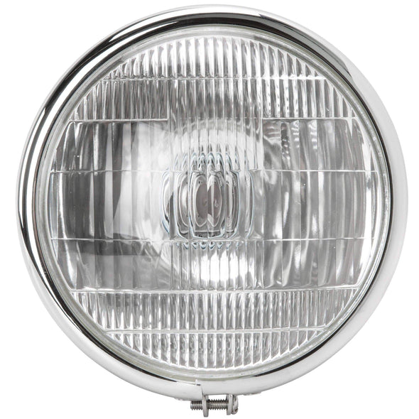 Springer Style Bottom Mount Headlight - Chrome