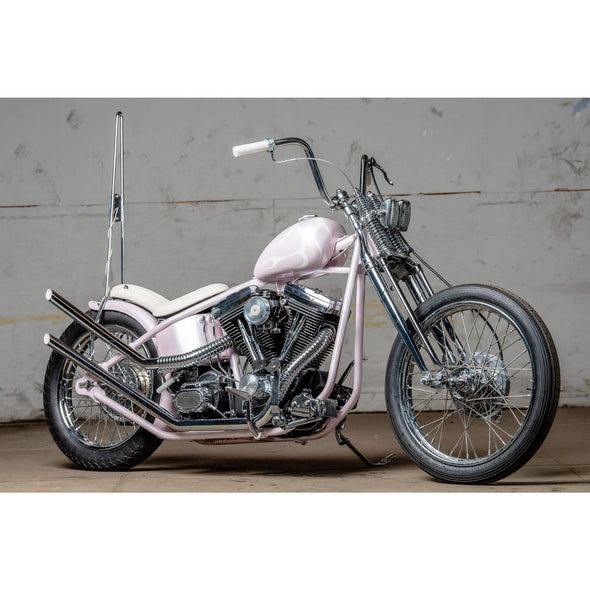 Chrome Flexible Exhaust Cover for vintage Harley & Universal