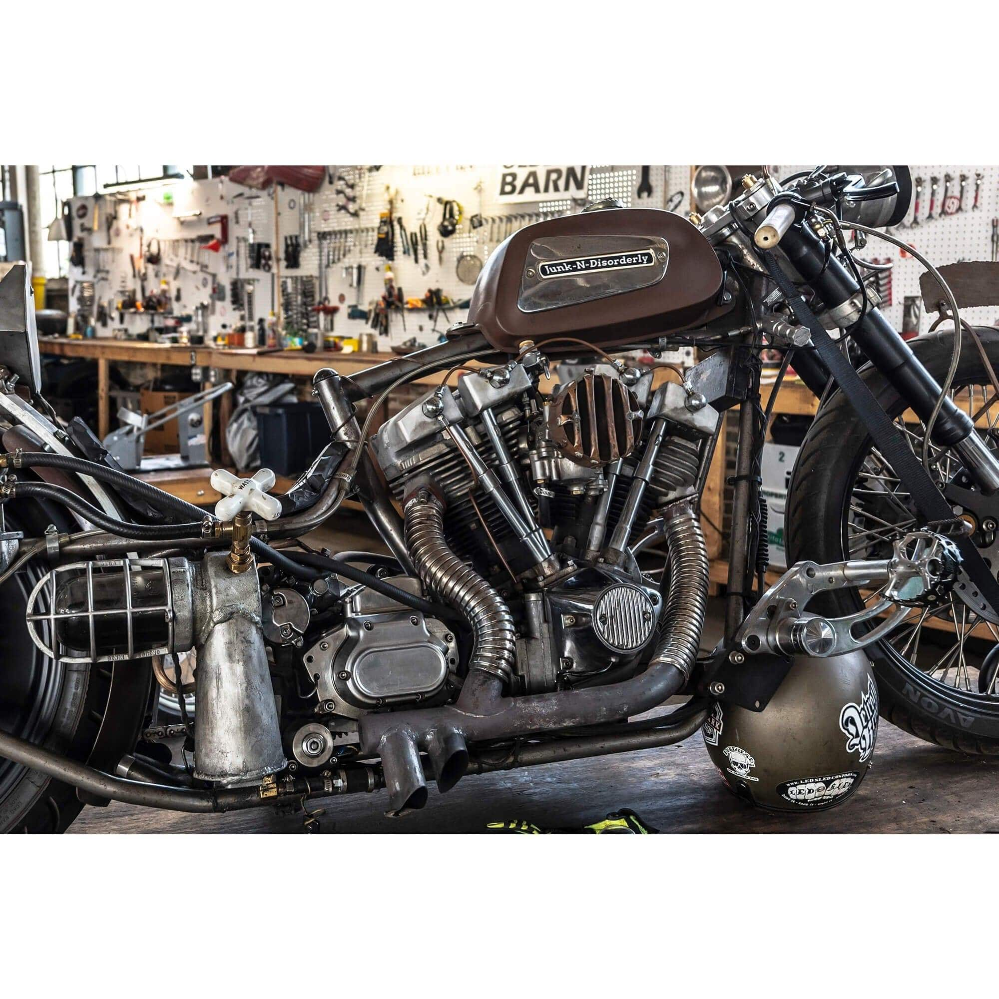 Cycle Standard Chrome Flexible Exhaust Cover For Vintage Harley Universal Lowbrow Customs
