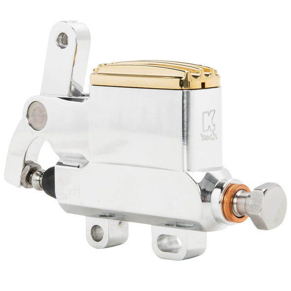 Deluxe Polished and Brass Wire / Cable Operated Rear Master Cylinder With Reservoir