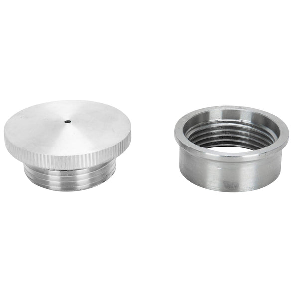 Aluminum Gas Filler Cap with Weld-In Steel Bung - Vented