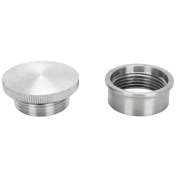 Aluminum Gas / Oil Filler Cap with Weld-In Steel Bung - Unvented