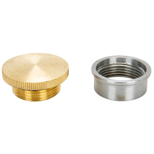 Brass Gas / Oil Filler Cap with Weld-In Steel Bung - Unvented