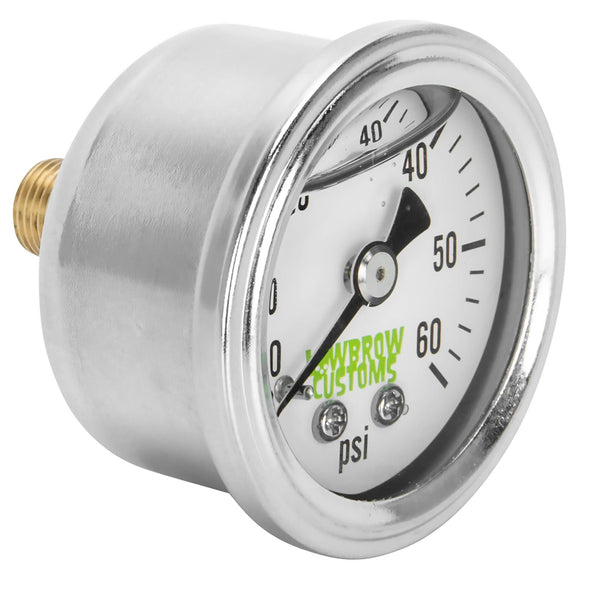 60 psi Oil Pressure Gauge - White Face