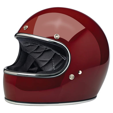 Gringo DOT/ECE Approved Full Face Helmet - Gloss Garnet