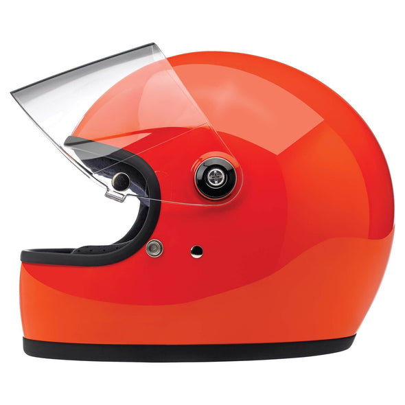 Gringo S DOT/ECE Approved Full Face Helmet - Gloss Hazzard Orange