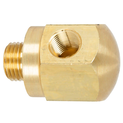Rocker Box Oil Pressure Gauge Adapter Fitting - Brass - 1971 - Up Harley-Davidson Shovelhead, 1971 - 1985 Sportster