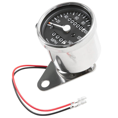 Mini 2:1 ratio Mechanical Speedometer with Trip Meter - 2.4 inch