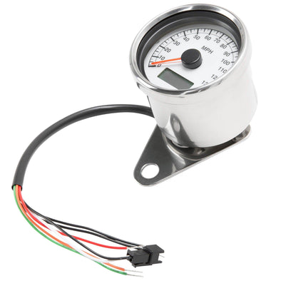 Mini Programable Electronic Speedometer - 2.4 inch - White Face