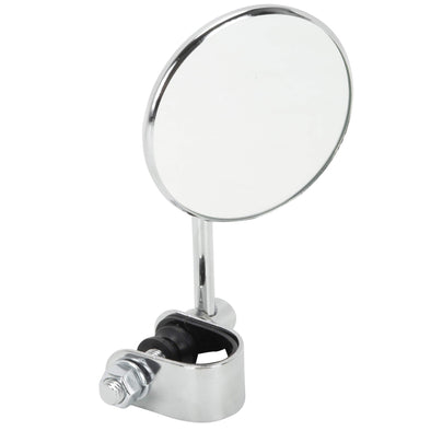 Round Motorcycle Mirror - Clamp On - Chrome
