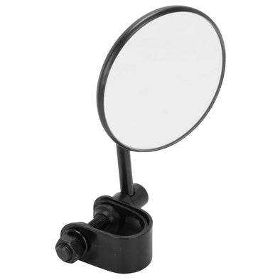 Round Motorcycle Mirror - Clamp On - Black