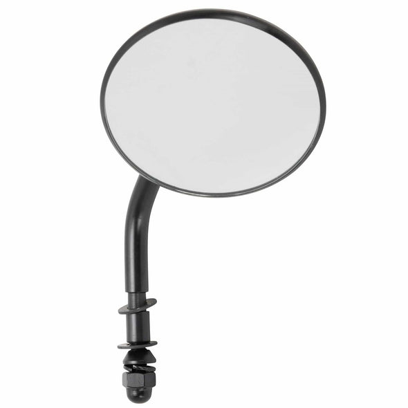 Round Motorcycle Mirror - Perch Mount - Black
