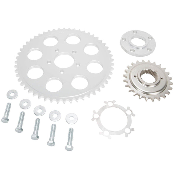 Belt to Chain Conversion Kit Harley-Davidson Dyna 1994-99 - Silver Sprocket