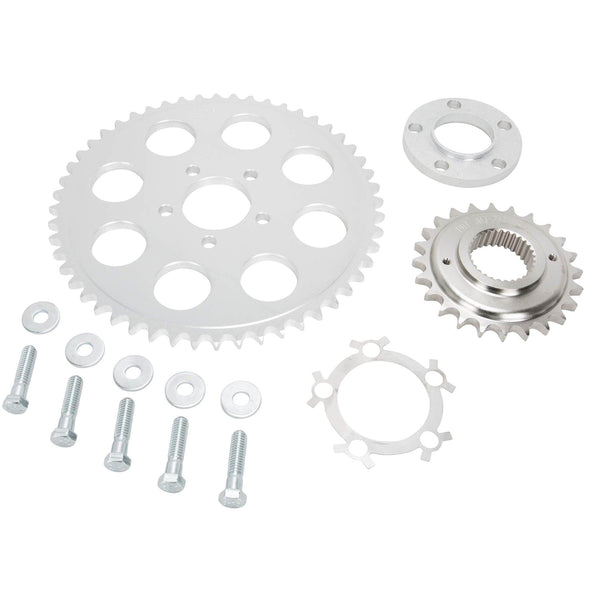Belt to Chain Conversion Kit Harley-Davidson Dyna 2000-05 - Silver Sprocket