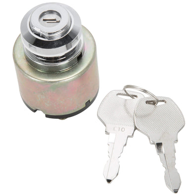 3 position Universal Quick-Start Ignition Key Switch  - Chrome Bezel