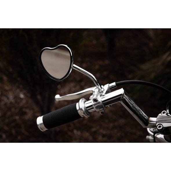 Heartthrob Motorcycle Mirror - Perch Mount - Chrome