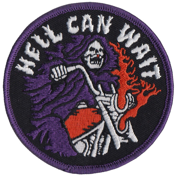 Hell Can Wait Embroidered Patch