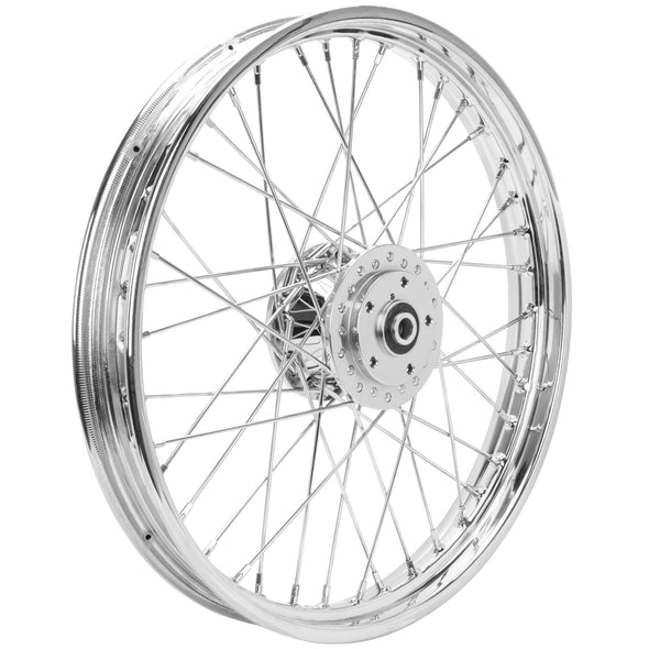 21 x 2.15 Chrome Complete Front Wheel fits Harley-Davidson Sportster XL & FX 1984-1999
