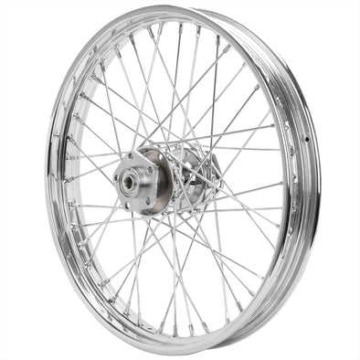 21 x 2.15 Chrome Complete Front Wheel fits Harley-Davidson Big Twins 1973-1984