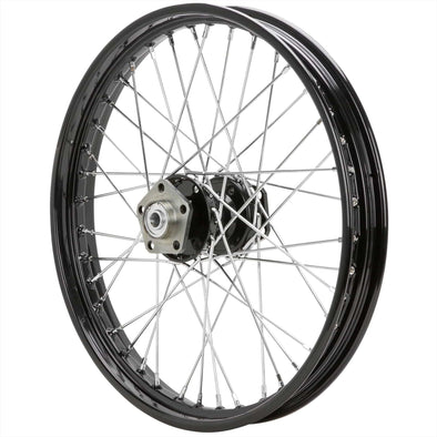 21 x 2.15 Black Complete Front Wheel fits Harley-Davidson Big Twins 1973-1984