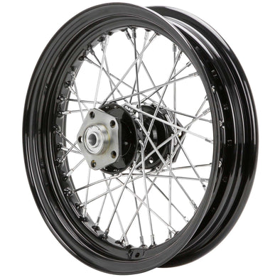 16 x 3.00 Black Complete Front / Rear Wheel fits Harley-Davidson Big Twins 1973-1984