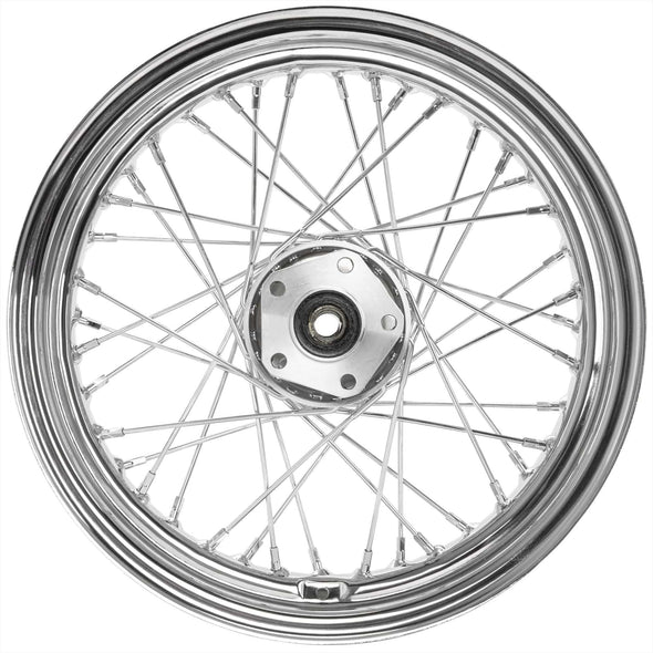 16 x 3.00 Chrome Complete Rear Wheel fits all Harley-Davidson 1979-1999 (except FLT)