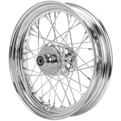 16 x 3.00 Chrome Complete Rear Wheel fits Harley-Davidson Sportster 1955-1978 (drum brake)