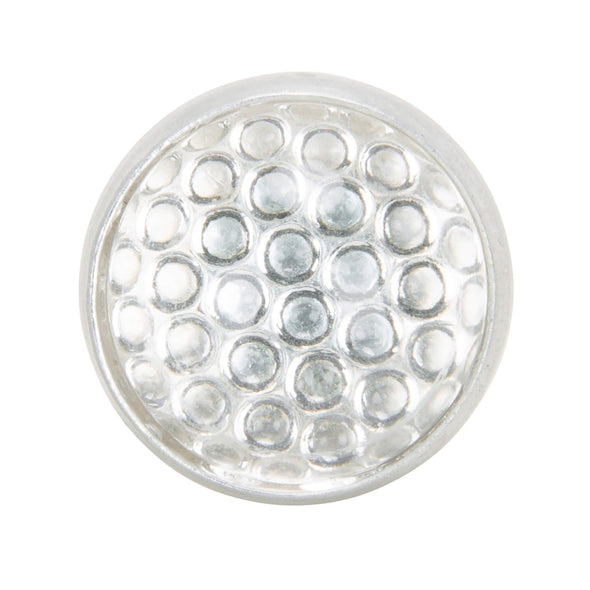Glass License Plate Round Reflector - Clear