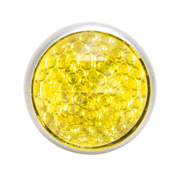 Glass License Plate Prism Reflector - Yellow