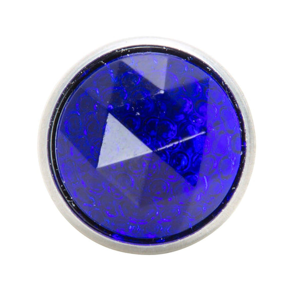 Glass License Plate Prism Reflector - Blue