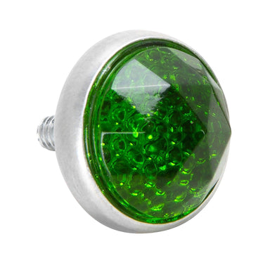 Glass License Plate Prism Reflector - Green