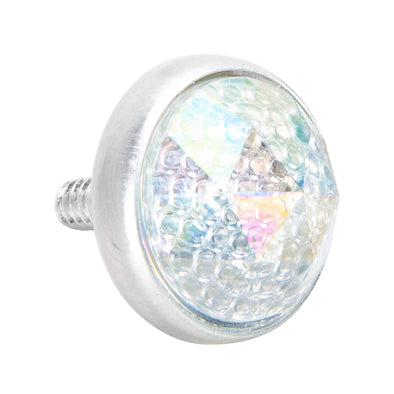 Glass License Plate Prism Reflector - Rainbow