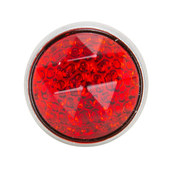 Glass License Plate Prism Reflector - Red