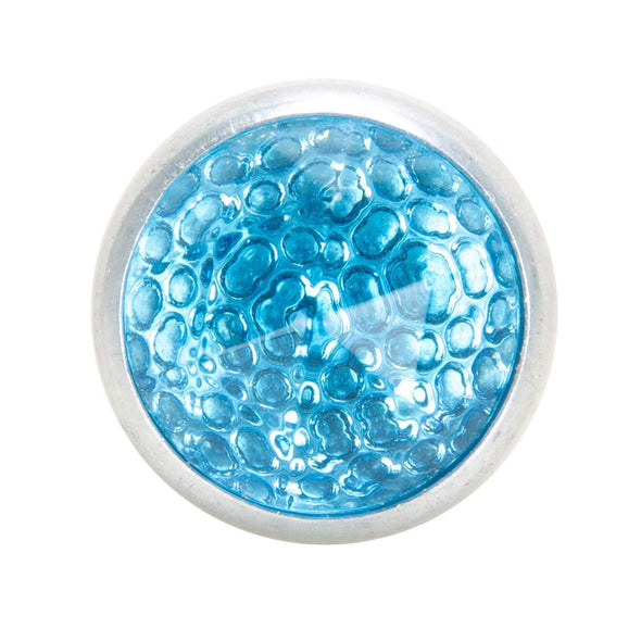Glass License Plate Prism Reflector - Light Blue