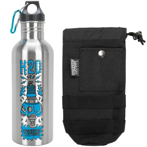 Stainless Steel Water Bottle and Black Carrier 2.0 Combo - Save $2.95!