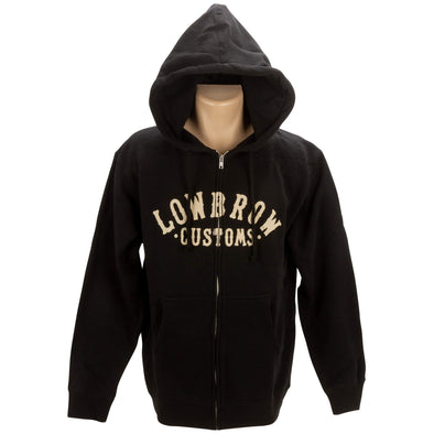 Arched Logo Zip-up Hooded Sweatshirt