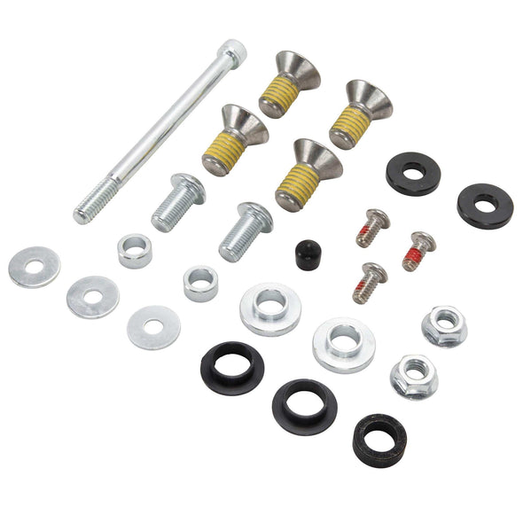 Seat Spring Kit & Black Diamond Solo Seat for Harley Sportsters 2004-Up