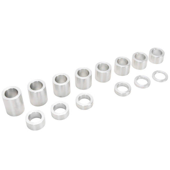 14 Piece Aluminum Wheel Axle Spacer Kit - 1.5 inch O.D. x 1 inch I.D.