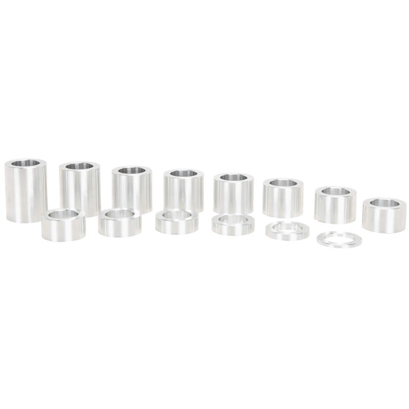 14 Piece Aluminum Wheel Axle Spacer Kit - 1.5 inch O.D. x 25MM I.D.