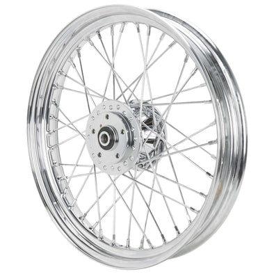19 x 2.5 Chrome Complete Front Wheel Fits Harley-Davidson Sportster XL & FX 1984-1999