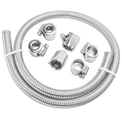 1/4 inch Braided Stainless Fuel Line Kit