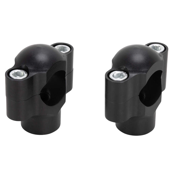 "Smooth 1"" Handlebar Risers - Black"