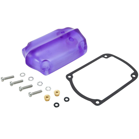 Ribbed Translucent Cast Magneto Cover - Purple