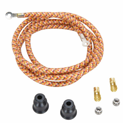 Spark Plug Wire Kits - Brown/Yellow/Orange Explosion