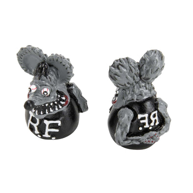 Rat Fink Air Valve Caps - Gray
