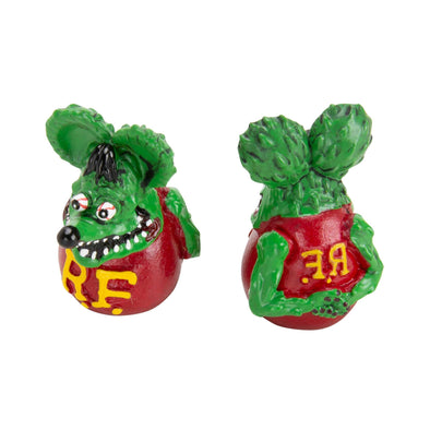Rat Fink Air Valve Caps - Green